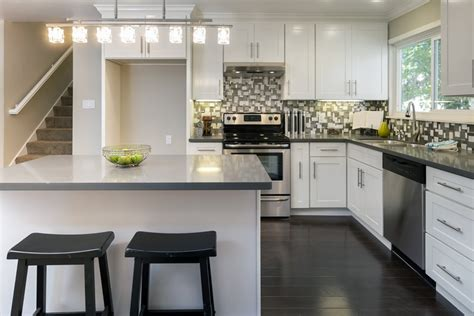 white l shaped kitchen with island l shaped kitchen design with gray island also black and