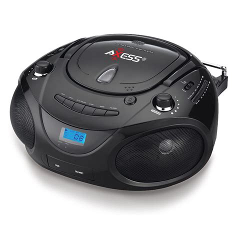 usb cd player portable cd player fm radio ac dc usb aux in 4 mp3 player ipod boombox speakers ebay