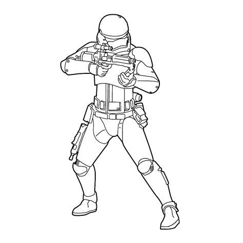 Clone Trooper Kleurplaat leuk voor trooper