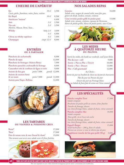 Carte De Menu Restaurant by Menu De La Carte Id 233 E Resto Meilleures