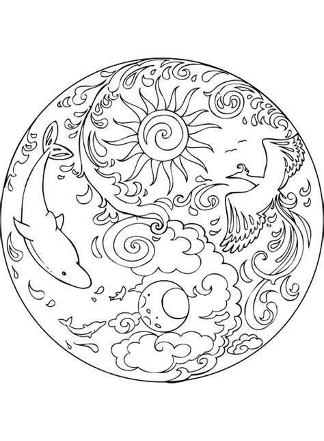 immagini dei mandala da colorare disegni mandala da colorare favole e fantasia