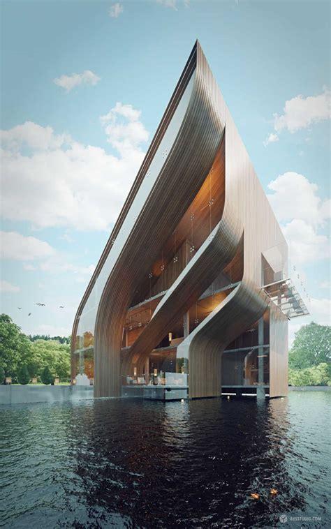 futuristic villa  miami