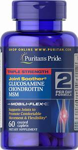 Triple Strength Glucosamine  Chondroitin  U0026 Msm Joint Soother U00ae 60 Caplets