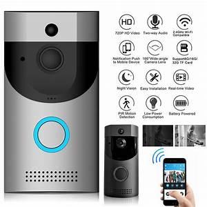 Smart Home Türklingel : wifi t rklingel wlan drahtlose 720p video pir nachtsicht haus sicherheit visuell ebay ~ Yasmunasinghe.com Haus und Dekorationen