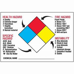 chemical hazard warning signs and labels nfpa diamond With hazardous chemical labels signs