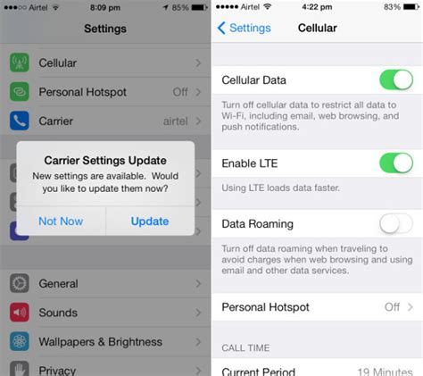 what is carrier update for iphone airtel releases carrier update for iphone 5s and 5c ahead
