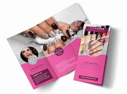 Brochure Salon Nail Template Templates Fold Tri