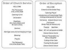 wedding reception order of service 1000 images about order of service on order of service wedding order of service