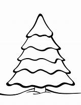 Tree Coloring Christmas Printable Templates Pages Plain Holiday Patterns Shape Craft Outlines Stencils sketch template