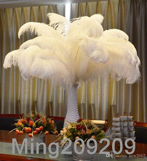wholesale 6 26 inch ostrich feather plume white wedding