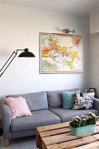 Carte Du Monde Deco : la carte de geographie fait son retour mademoiselle claudine le blog ~ Teatrodelosmanantiales.com Idées de Décoration