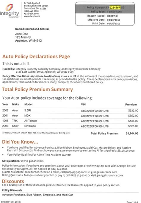 Your declaration page, for example, is technically a form. One Time Payment | Integrity Insurance