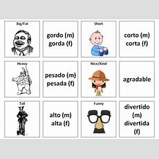 Describing People (adjectives) Spanish Vocabulary Card Sort By Ineedtoteachthat Teaching
