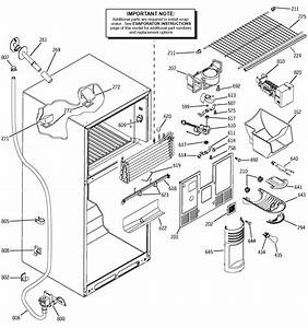 Freezer Section Diagram  U0026 Parts List For Model