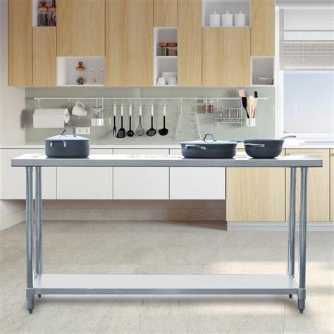 kitchen utility table sportsman stainless steel kitchen utility table sswtable72