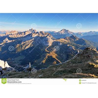 Mountain At Summer - Top Of Lagazuoi Dolomites Italy