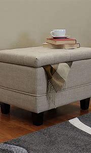 Amazon.com: UKN Beige 24-inch Ottoman Natural Modern ...