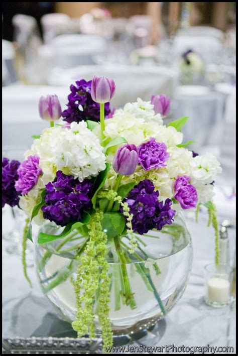 pretty purple reception wedding flowers wedding decor