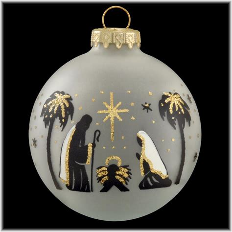 holy family black silhouette ornament ornaments