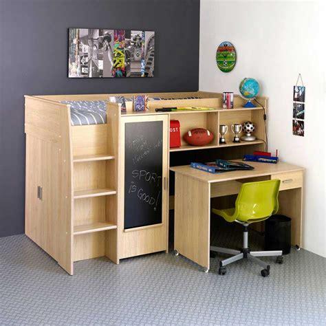 bureau avec rangements lit mezzanine ado avec bureau et rangement lit mezzanine