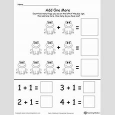 Add One More Frog Addition  Count, Printable Math Worksheets And Math Worksheets