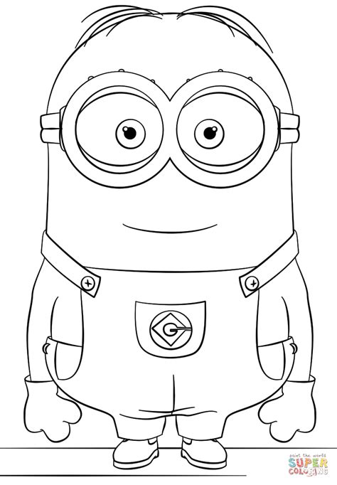 minion dave coloring page  printable coloring pages