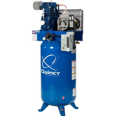 quincy qp 5 pressure lubricated reciprocating air compressor 5 hp 230 volt 1 phase 80
