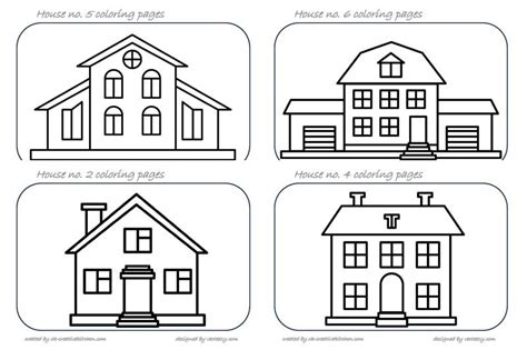 coloring house house coloring pages creative kitchen