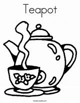 Coloring Teapot Tea Pages Cup Pot Printable Caliente Party Template Clip Boston Noodle Drink Drawing Saucer Colouring Cups Clipart Sheet sketch template