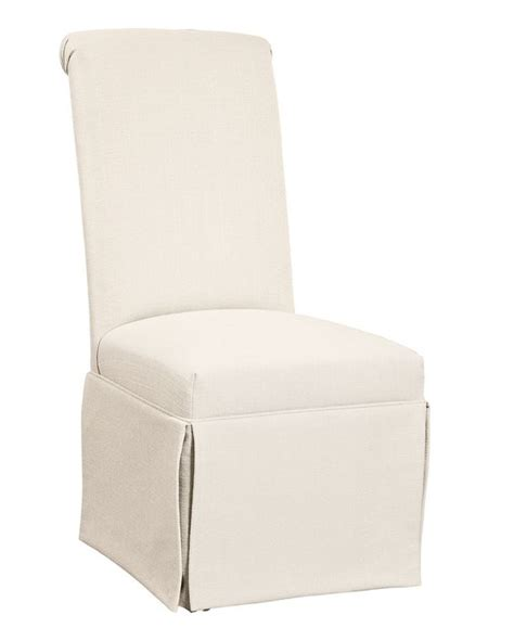 Skirted Parsons Chairs With Arms by Clean Looking Andorra Dining Chair Skirted Parsons