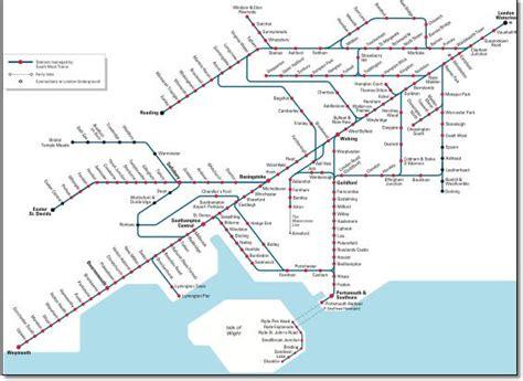 South West Trains Routes Map