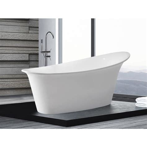 baignoire 238 lot ovale acrylique blanc haiti achat