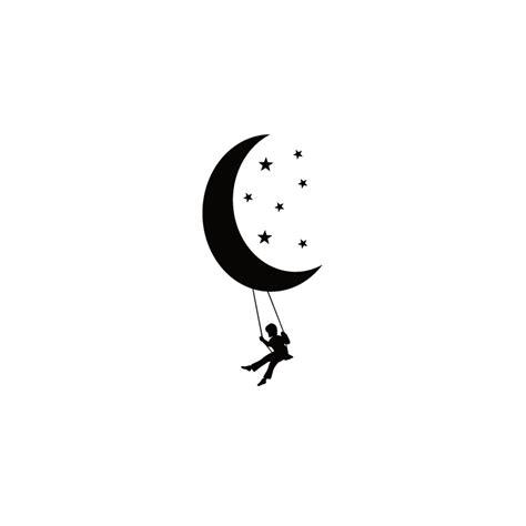 balancoir enfant sticker balancoire sur la lune pas cher stickers enfants