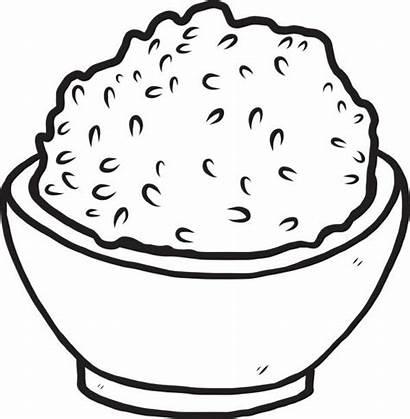 Rice Bowl Vector Drawing Cartoon Clip Clipart
