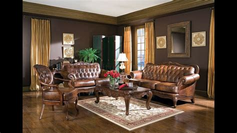 Modern doesn't have to mean simple. Brown living room furniture ideas - YouTube