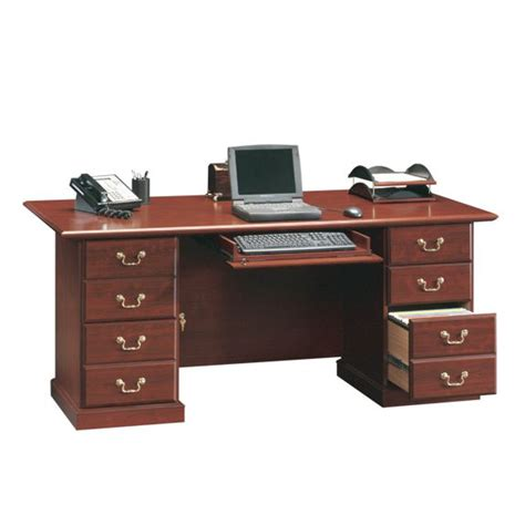 Sauder Heritage Hill Executive Desk Cherry by Sauder Heritage Hill 71 In Executive Desk 109843