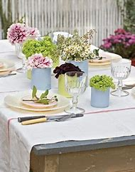 Spring Bridal Shower Table Decorations