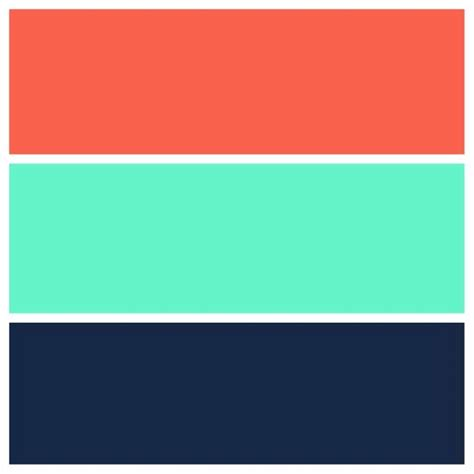 coral color scheme teal navy and coral color scheme for the home