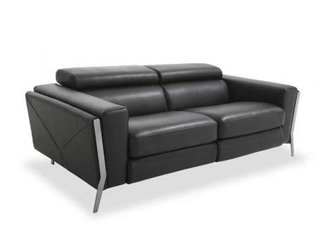 canapé noir 3 places canape cuir noir convertible maison design modanes com
