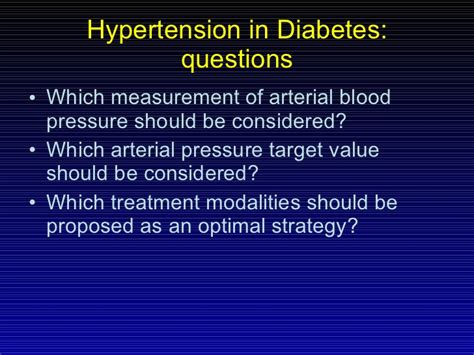 blood pressure control  diabetes