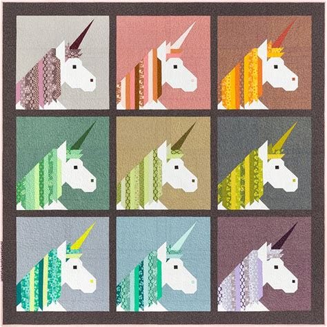 patterns  elizabeth hartman lisa  unicorn  quilt