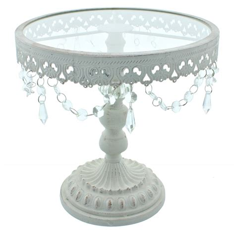 shabby chic stands the cake decorating co 11 inch white shabby chic cake stand presentation storage from the