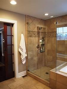 idea for storage in standup shower bathroom design