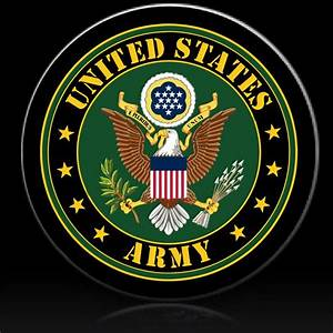 US ARMY EAGLE CREST spare tire cover - Custom Tire Covers