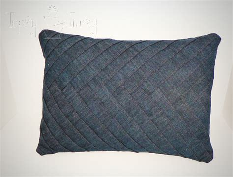 denim herringbone pillow ashlee marie real fun