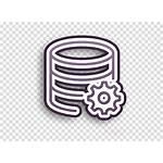 Icon Server Interaction Database Circle Line Transparent
