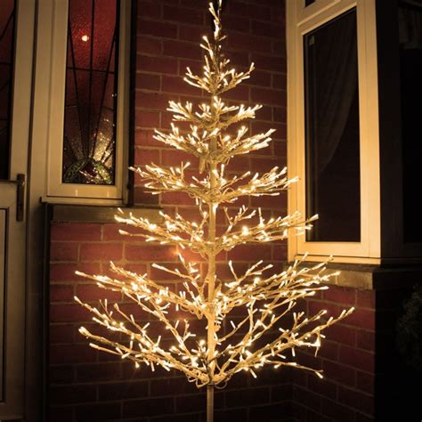 6ft white led tree beautiful led tree 6ft outdoor branch tree with 640 warm white leds places to visit