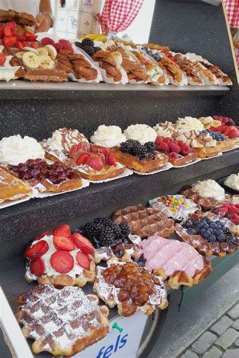 Waffles Truck At Volendam Amsterdam Netherlands Food
