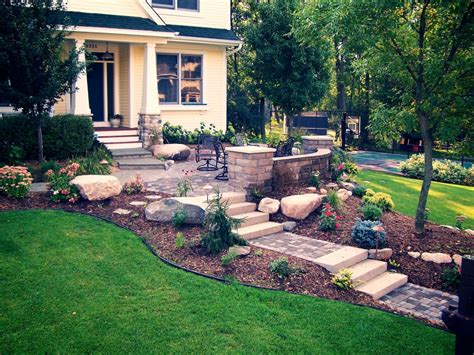 garden design with front yard patios add livability ideas