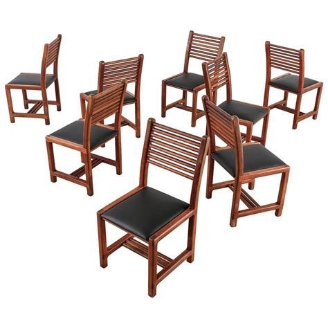 lambrecht studio set of 8 out of 22 teak and leather